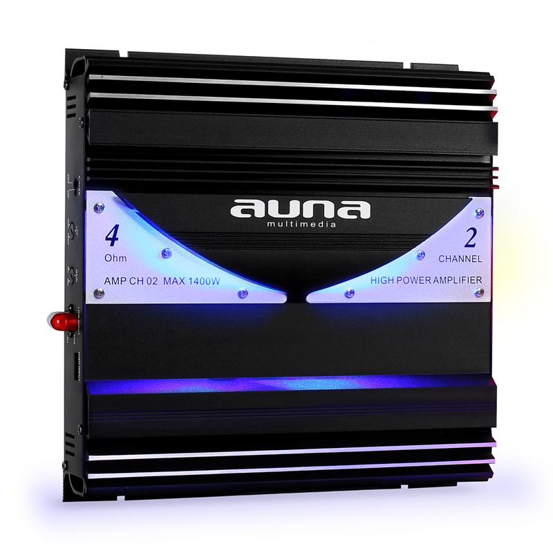 2e keus – Auna 1400 Watt 2-kanaals auto versterker