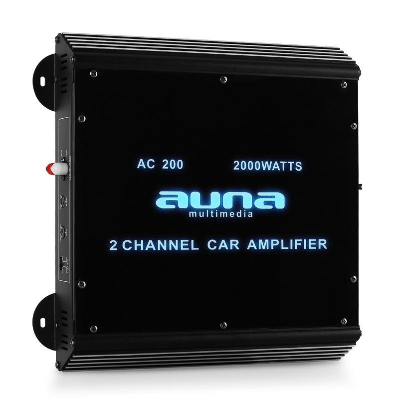 2e keus – Auna 2000 Watt 2-kanaals auto versterker W2-AC200 Versterkers – 2e keus aanbiedingen