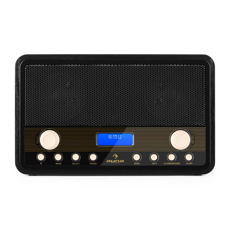 Afbeelding van Auna draagbare digitale DAB+ en FM radio met alarm en timer...