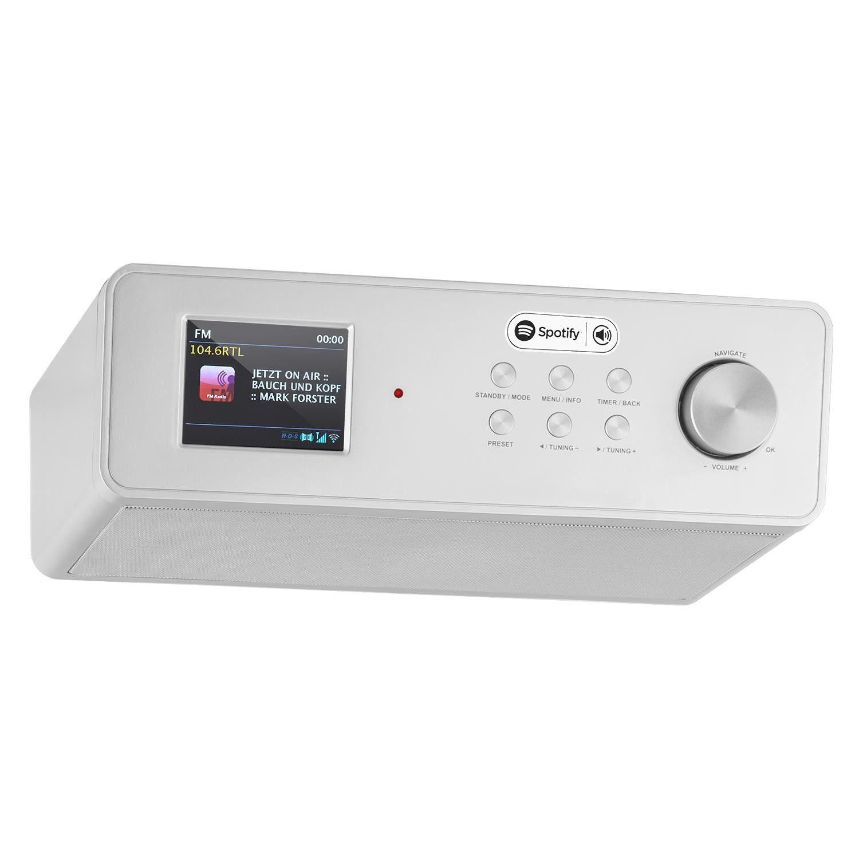 Afbeelding van Auna KR200 keukenradio zilver met DAB+, WiFi, Spotify, USB...