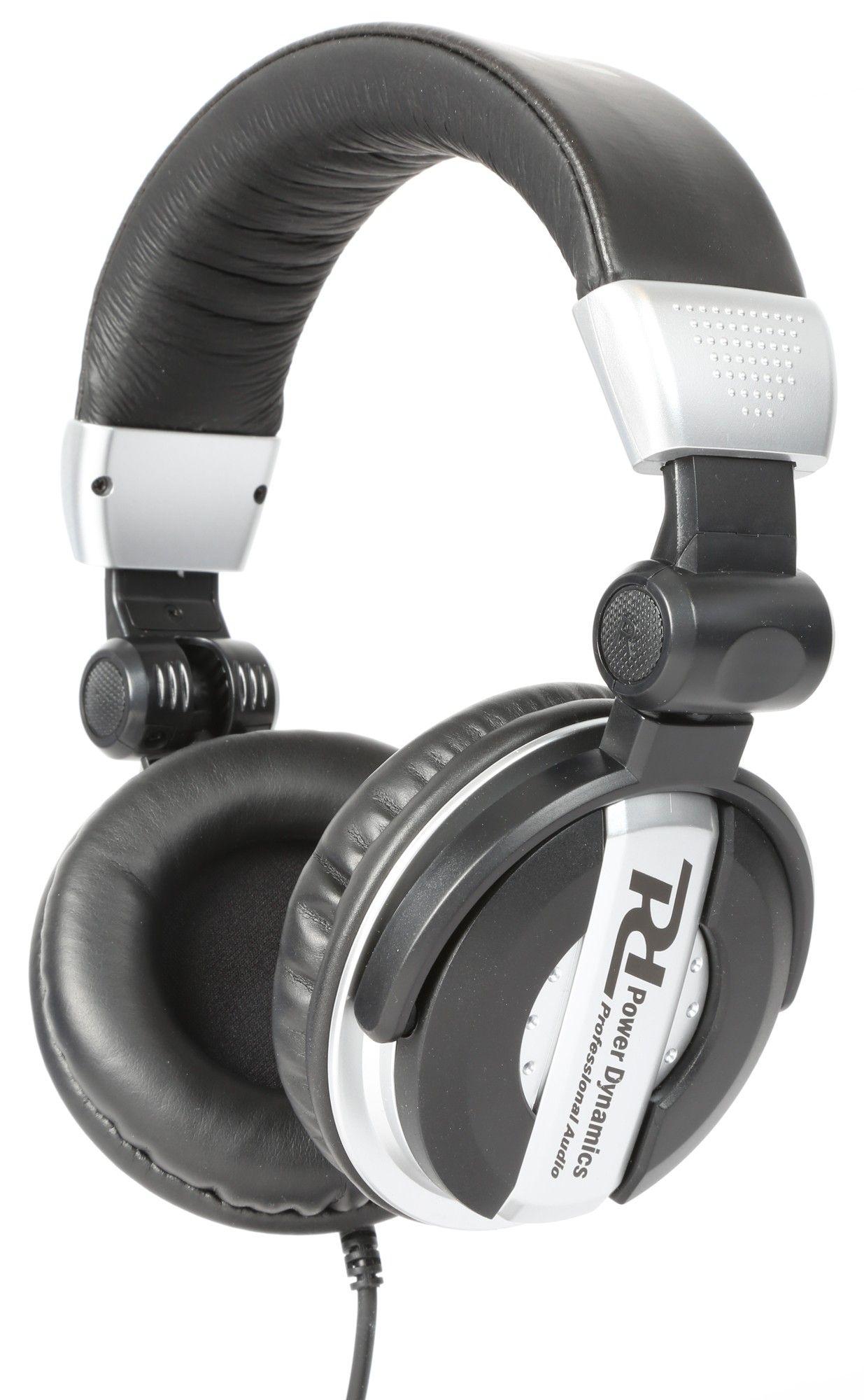Afbeelding van Power Dynamics zilver DJ koptelefoon met inklapbare en draaibare oorsc...