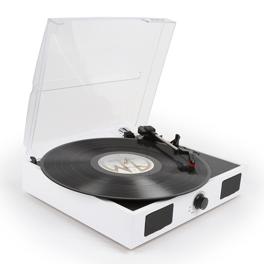 Afbeelding van Fenton RP108W witte platenspeler met ingebouwde speakers...