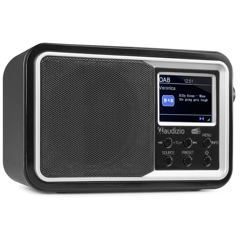 Audizio Parma draagbare DAB radio met Bluetooth en FM radio - Zwart
