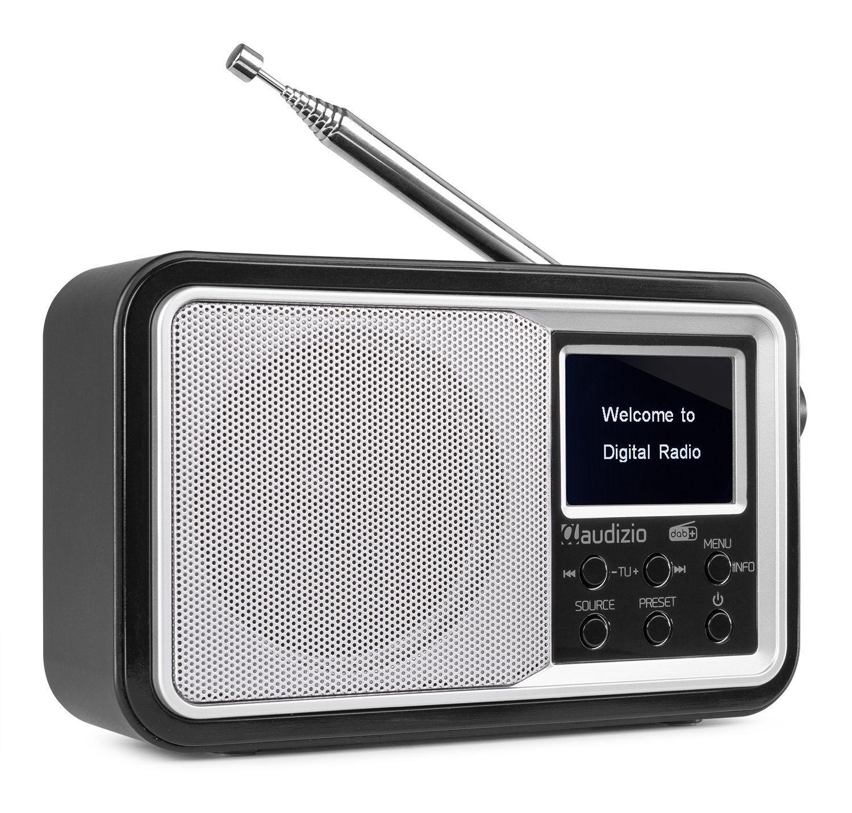 Audizio Parma draagbare DAB radio met Bluetooth en FM radio - Zilver