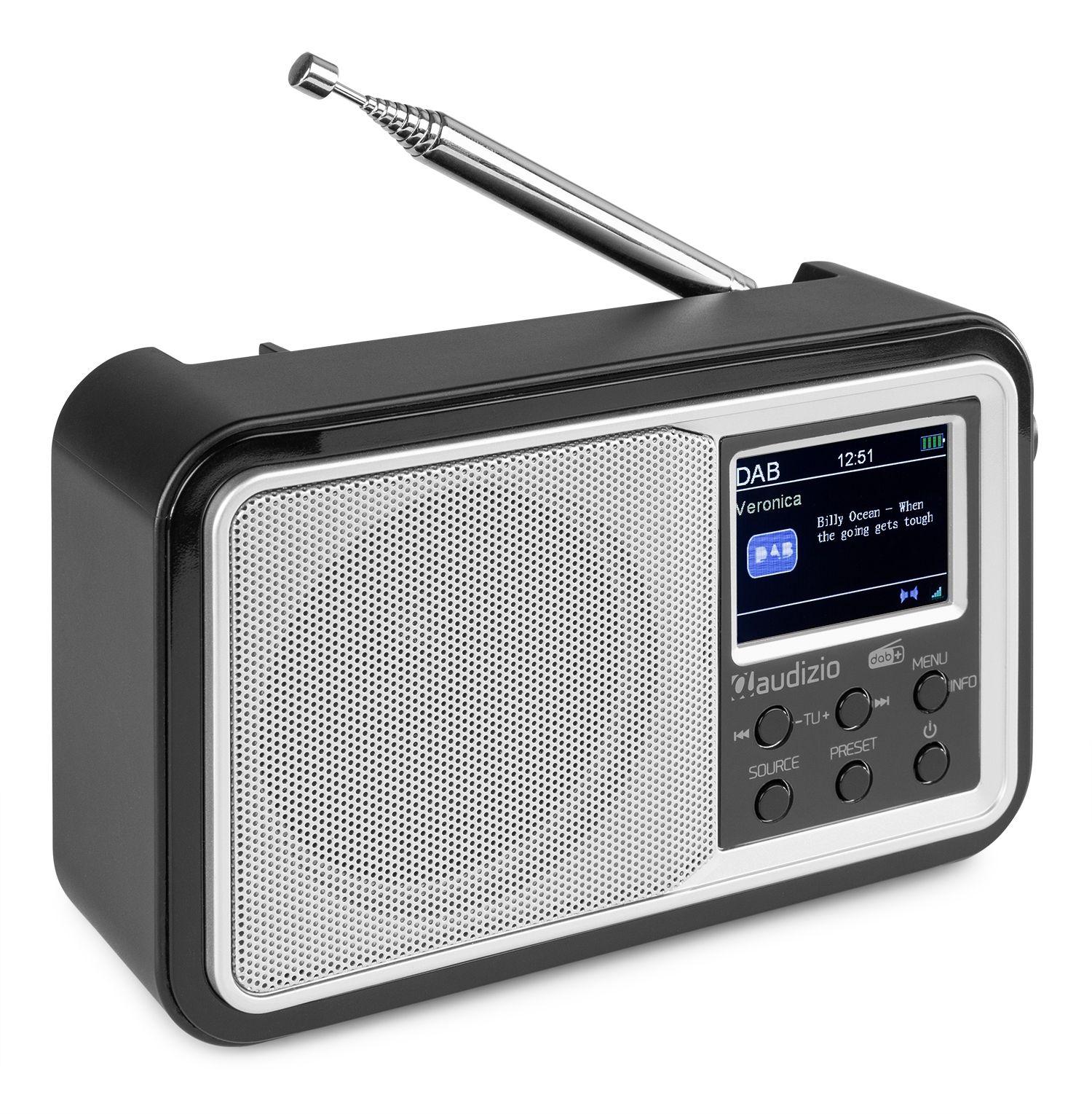 2e keus - Audizio Anzio draagbare DAB radio met Bluetooth, FM radio en