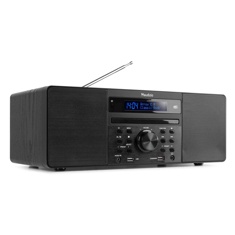 Audizio Prato microset met DAB radio, Bluetooth, USB mp3&cd speler -