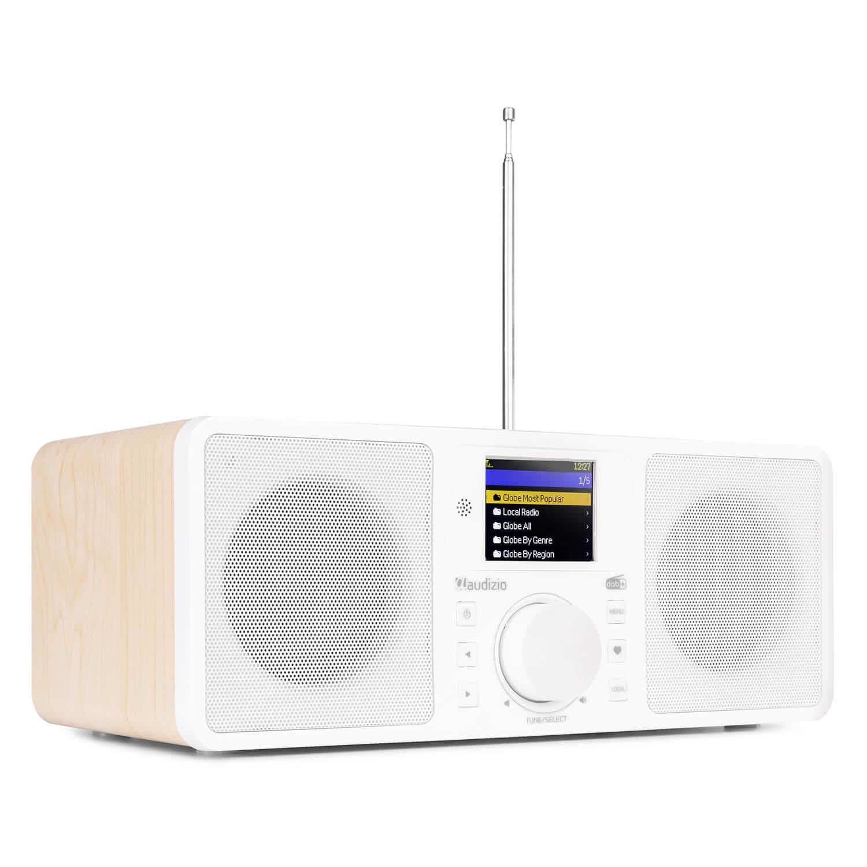 Audizio Rome DAB radio, internet radio met wifi + Bluetooth - Wit