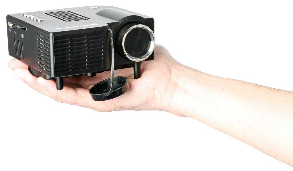 Afbeelding van 2e keus - SkyTronic compacte LED Beamer met HDMI en USB...