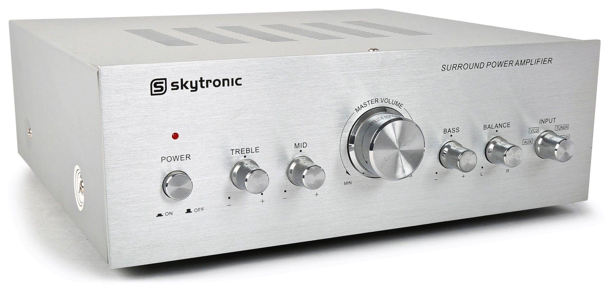 Dagaanbieding - Skytronic-Stereo-versterker-400W-met-4-inputs dagelijkse koopjes