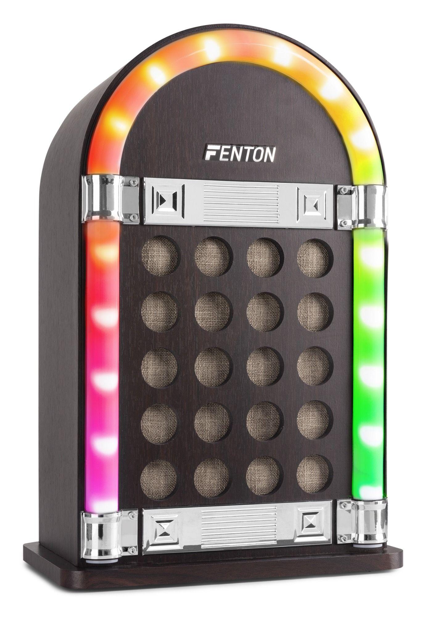 Dagaanbieding - Fenton JKB40 Vintage Jukebox accu Bluetooth speaker dagelijkse koopjes