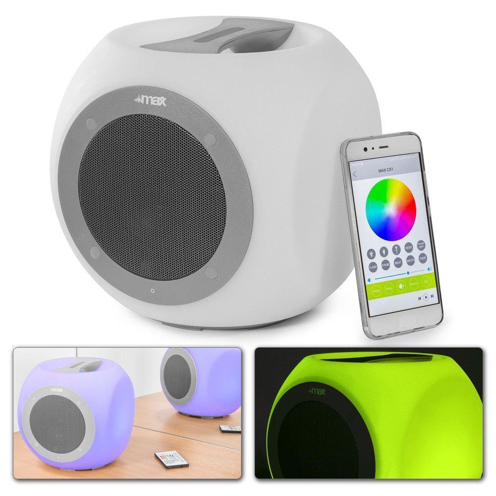 Afbeelding van 2e keus - MAX CX1 LED LightCube bluetooth speaker...