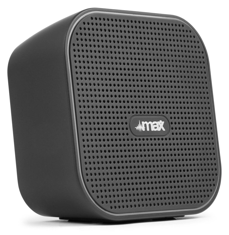 Afbeelding van MAX MX1 Bluetooth speaker \'Cube\' zwart ...