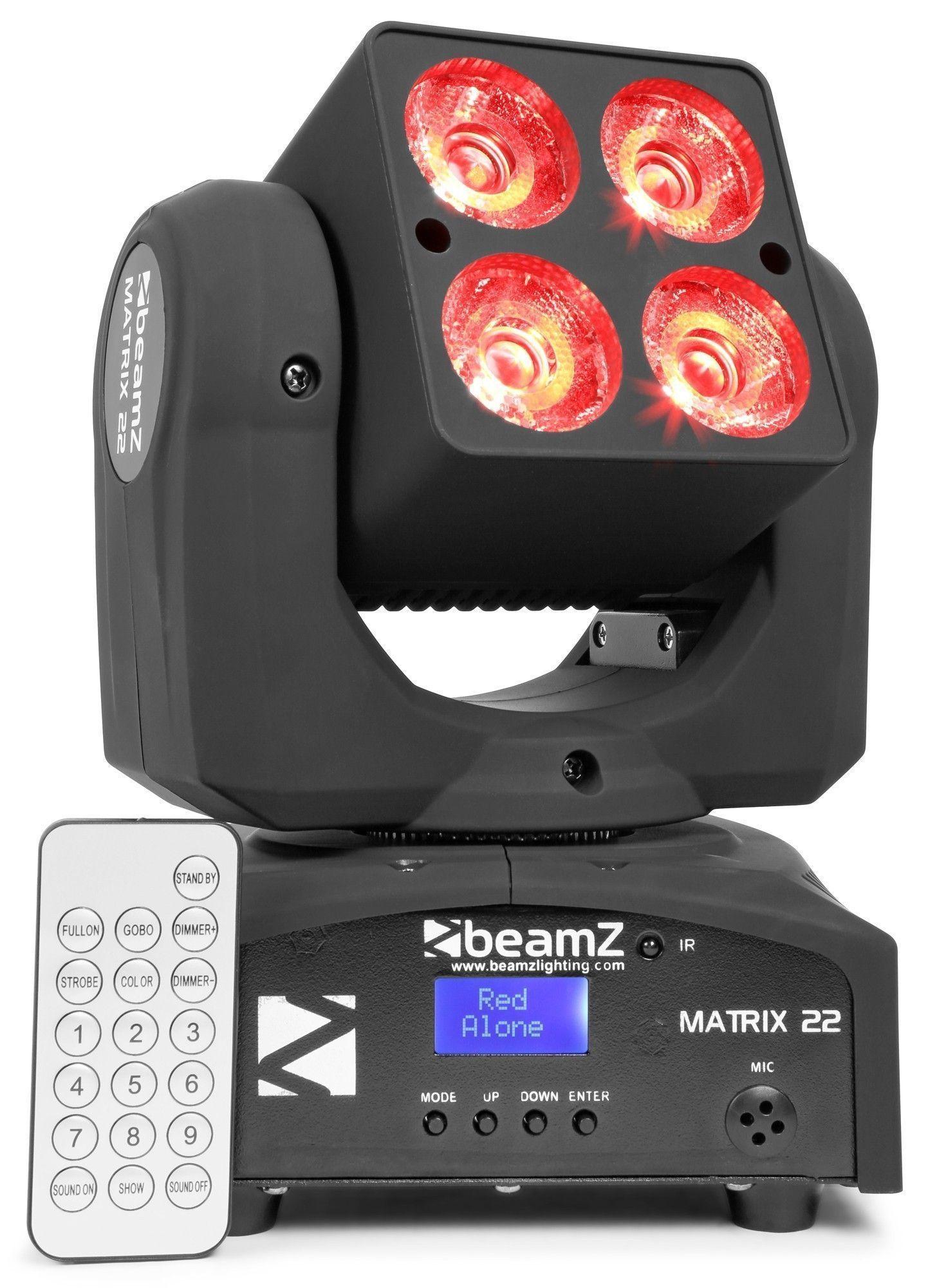 BeamZ Matrix22 movinghead met 4x 10W CREE LED's