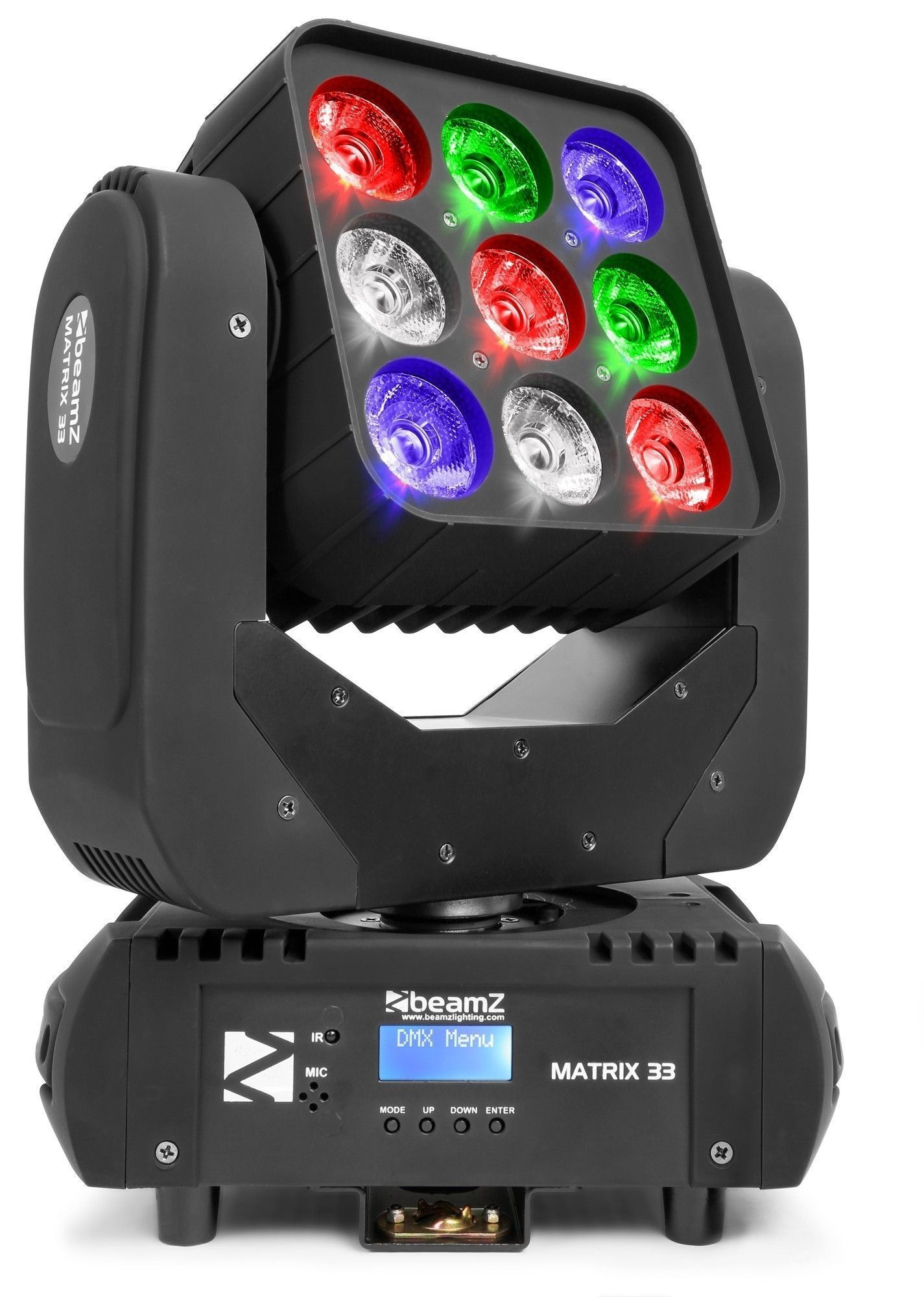 BeamZ Matrix33 movinghead met 9x 15W QUAD LED's
