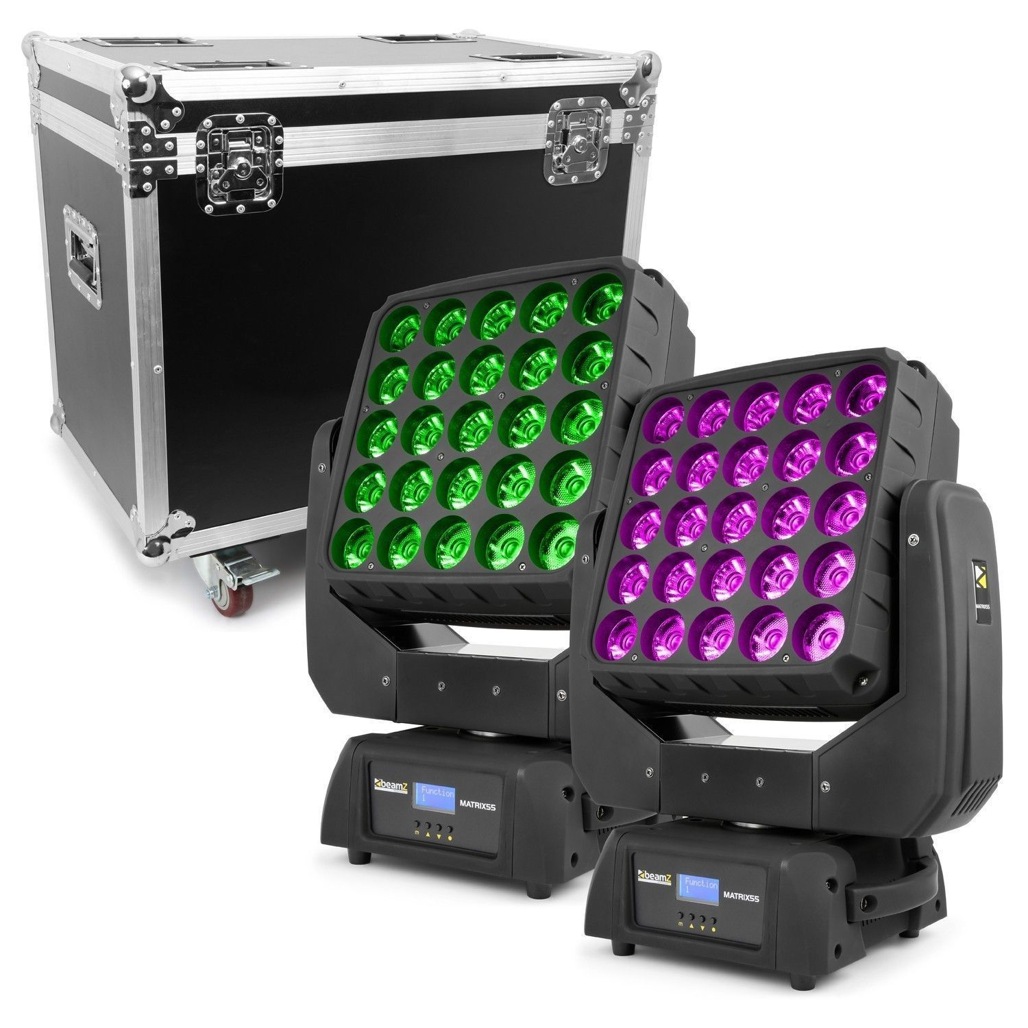 BeamZ Matrix55 LED Moving Head set inclusief flightcase