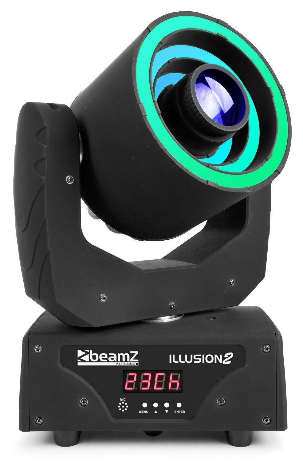BeamZ Illusion II Moving Head met 30W spot en 3 LED ringen
