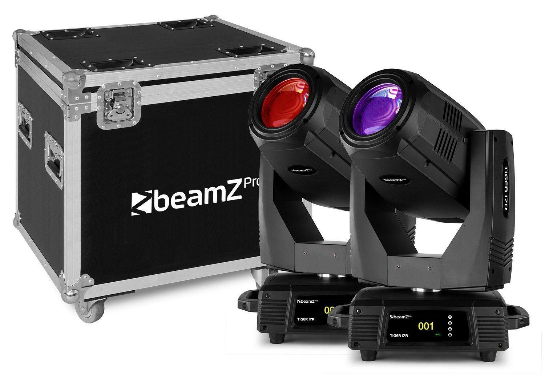 Afbeelding van BeamZ Professional Tiger 17R Beam/Spot 350W Moving Head 2 stuks in Fli...