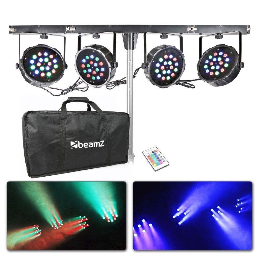 Afbeelding van 2e keus - BeamZ 4-weg LED Parbar met 18x 1W RGB LEDs...