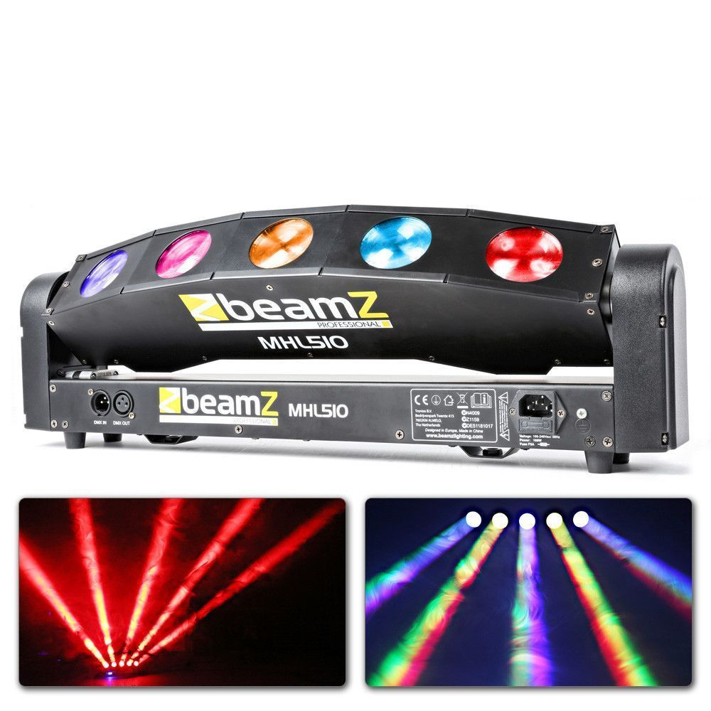 Afbeelding van 2e keus - BeamZ MHL510 Color Sweeper met 5x 10W QUAD LEDs en DMX...