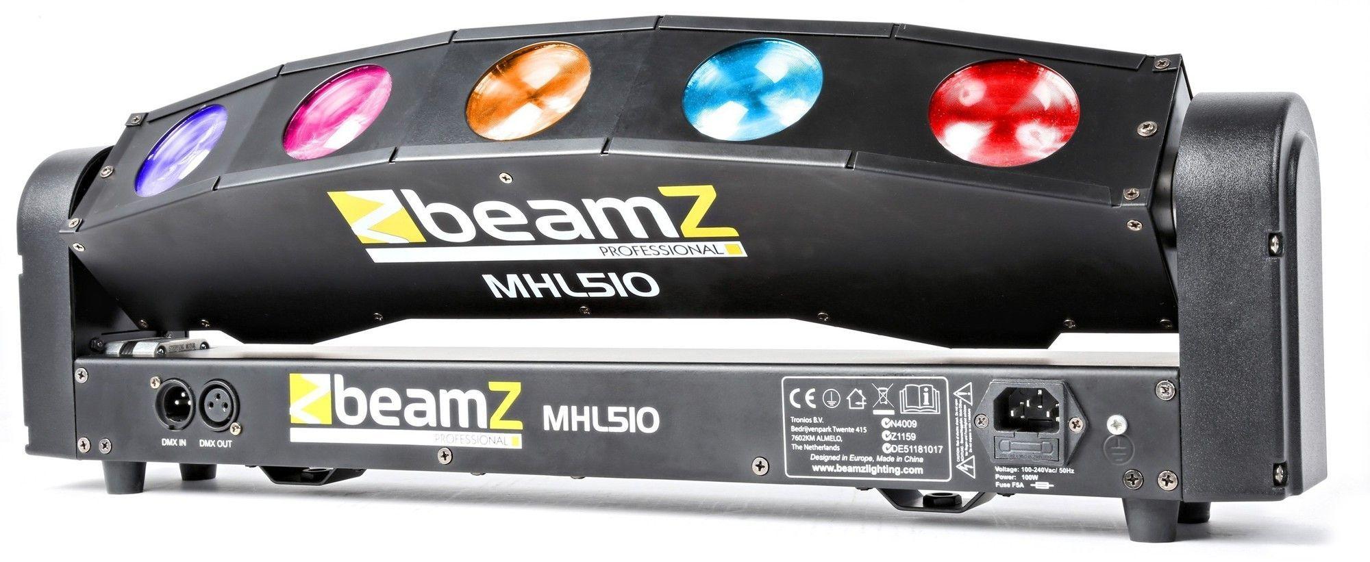 Dagaanbieding: BeamZ MHL510 Color Sweeper met 5x 10W QUAD LEDs en DMX