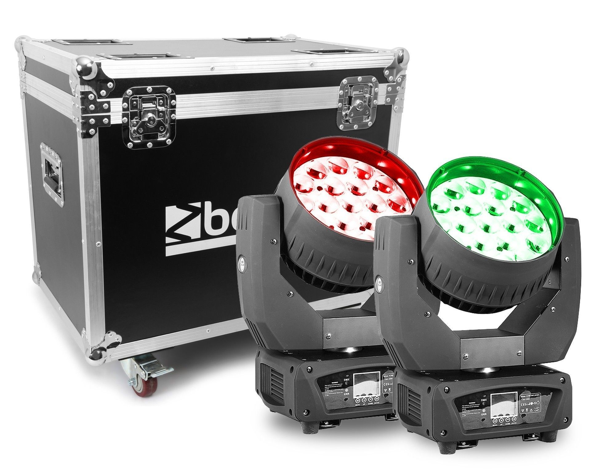 BeamZ MHL1915 - Set van 2 zoom moving heads in flightcase
