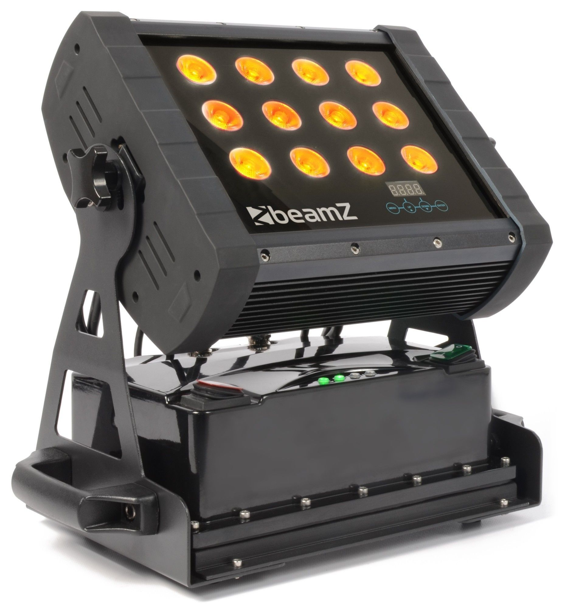 BeamZ WH128WI Wall Washer met accu 12x 8W QUAD LEDS IP65