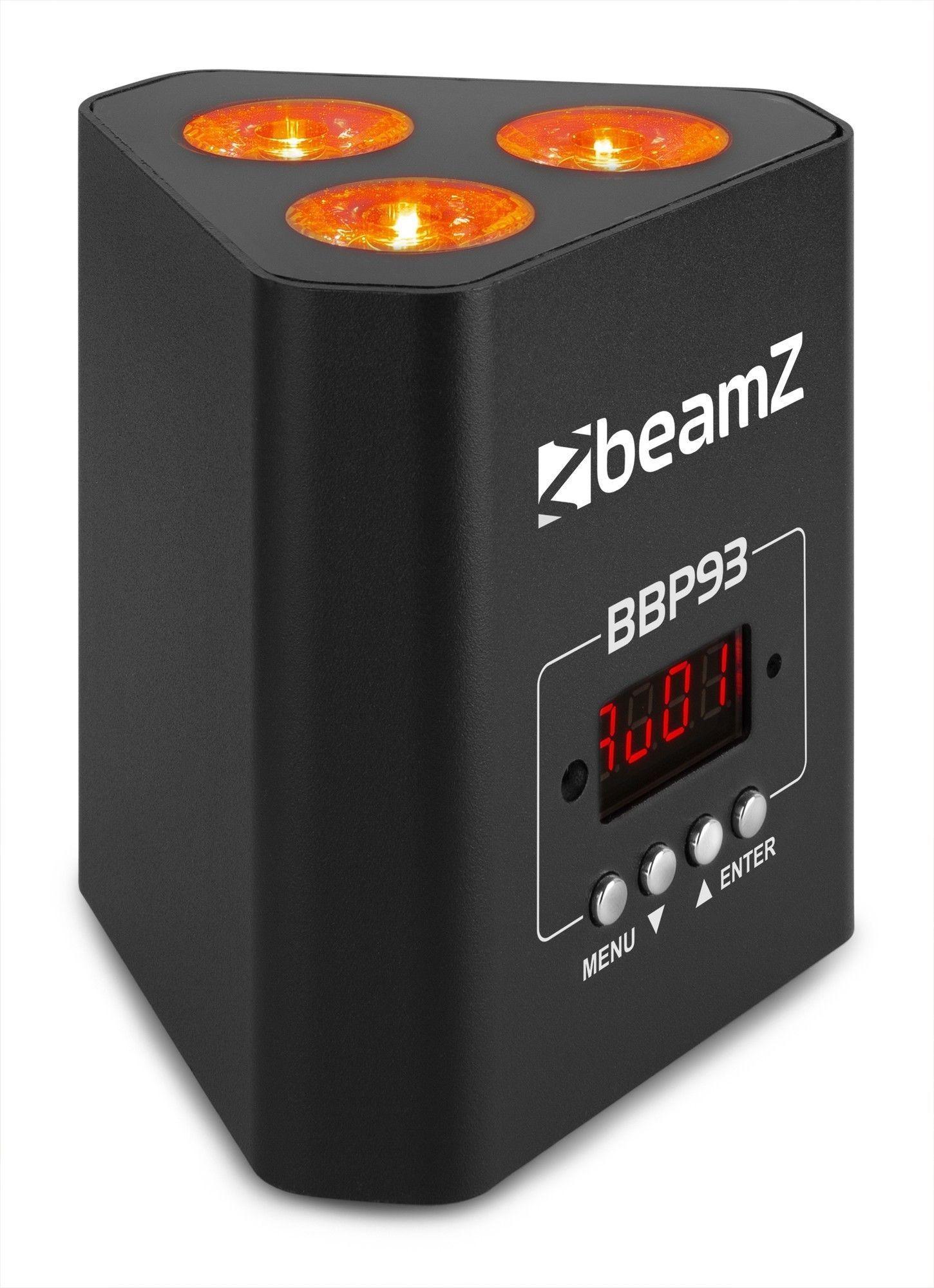 Afbeelding van BeamZ BBP93 Battery Uplight Par 3x 10W...