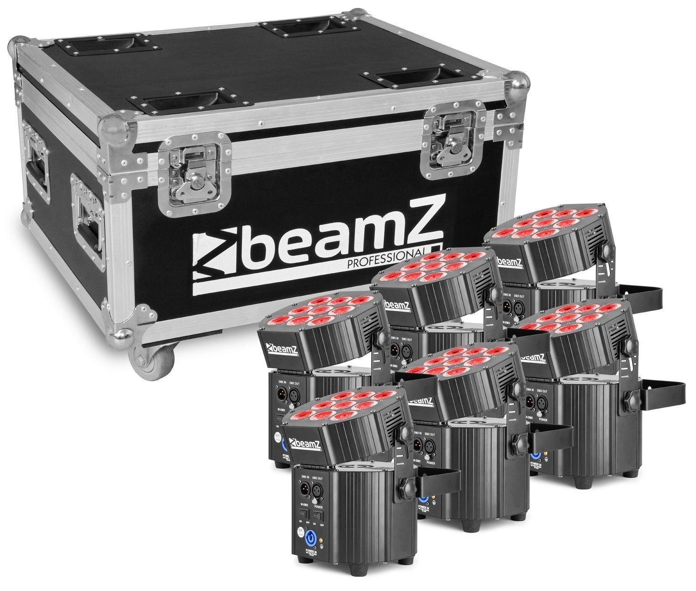 Afbeelding van 2e keus - BeamZ BBP60 Uplighter set met 6 draadloze spots in flightcas...