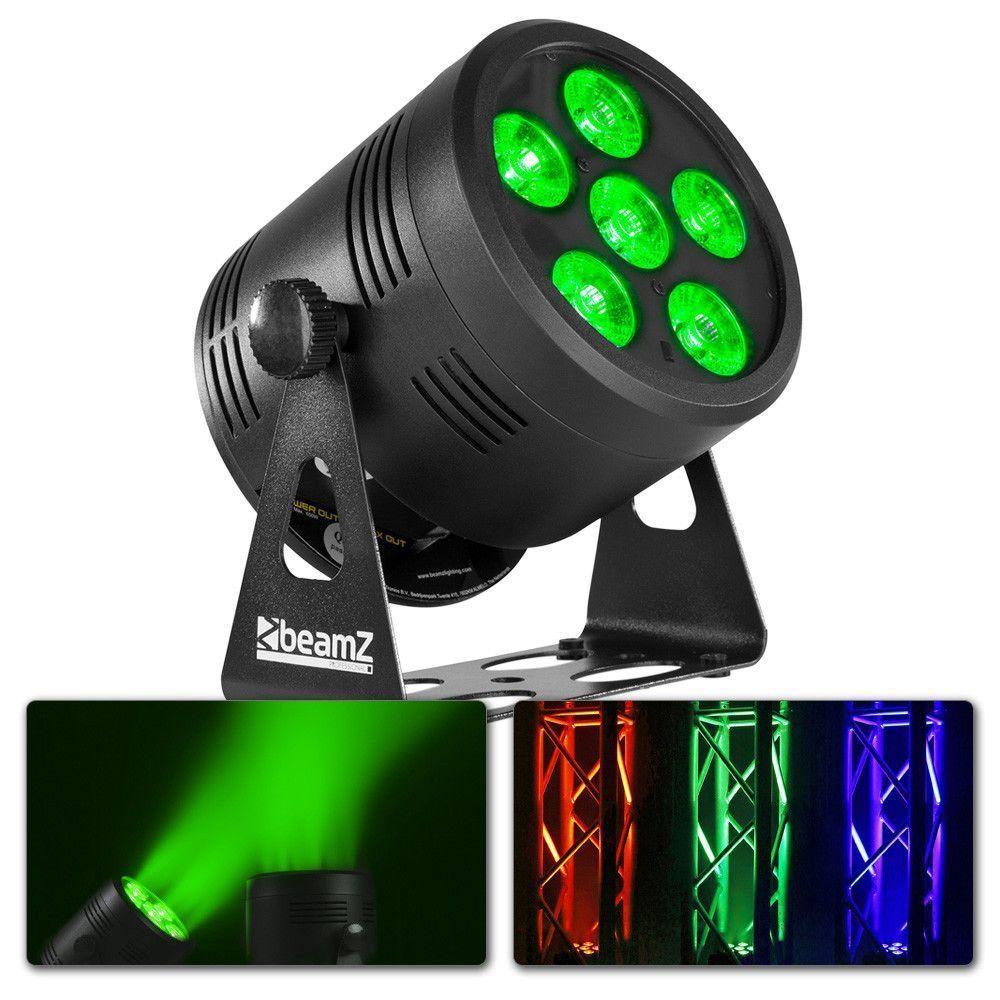 Afbeelding van 2e keus - BeamZ BBP66 Uplight met accu en 6x 6W LED\'s...