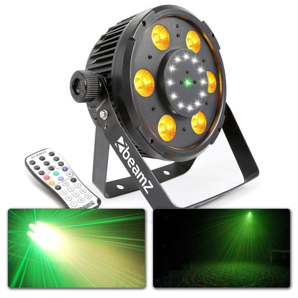 Afbeelding van 2e keus - BeamZ BX100 LED PAR met ingebouwde laser en stroboscoop...