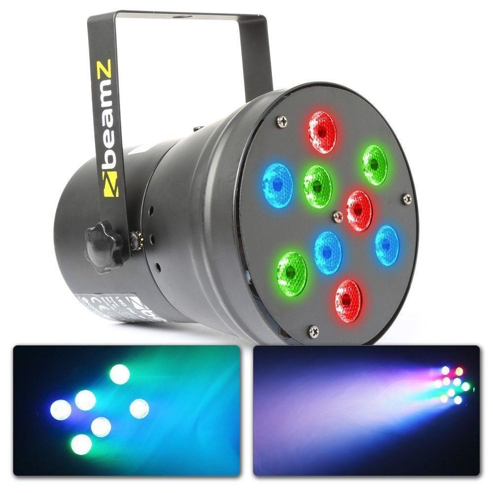 BeamZ LED PAR 36 met 9x 1W LED's en DMX