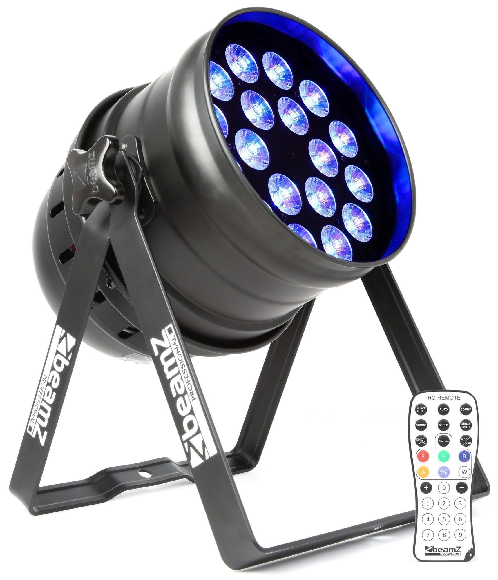 BeamZ BPP205 LED PAR 64 spot met 18x 15W PENTA LED's (RGBAW)