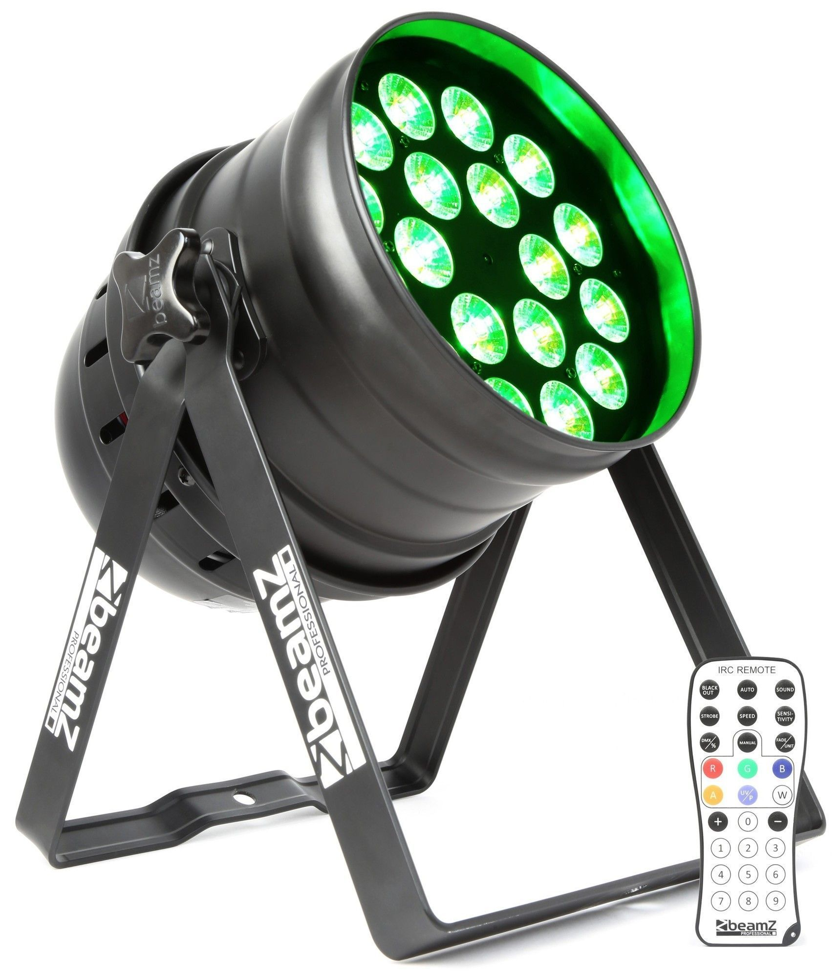 B-Stock - BeamZ BPP210 LED PAR 64 spot met 18x 12W QUAD LED's (RGBW)