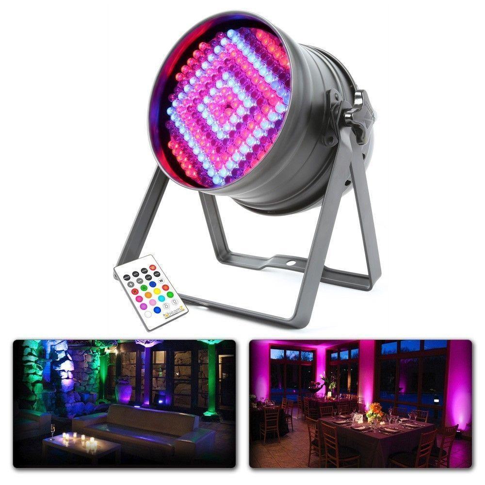 BeamZ LED PAR64 180x 10mm LED's RGB met afstandsbediening en DMX
