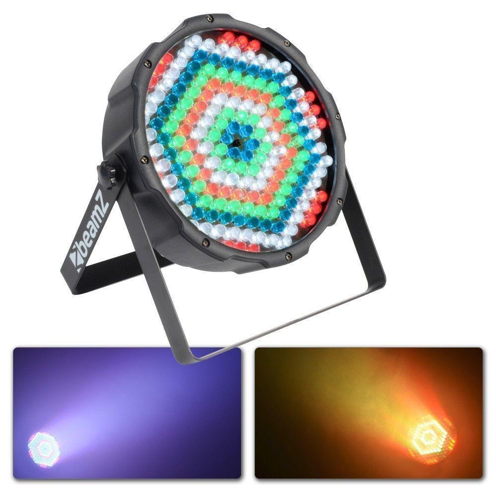 Compacte LED Spot FlatPAR met 186 LED's en DMX van BeamZ