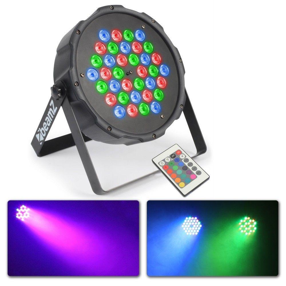LED spot FlatPAR 36x 1W DMX incl. afstandsbediening van BeamZ
