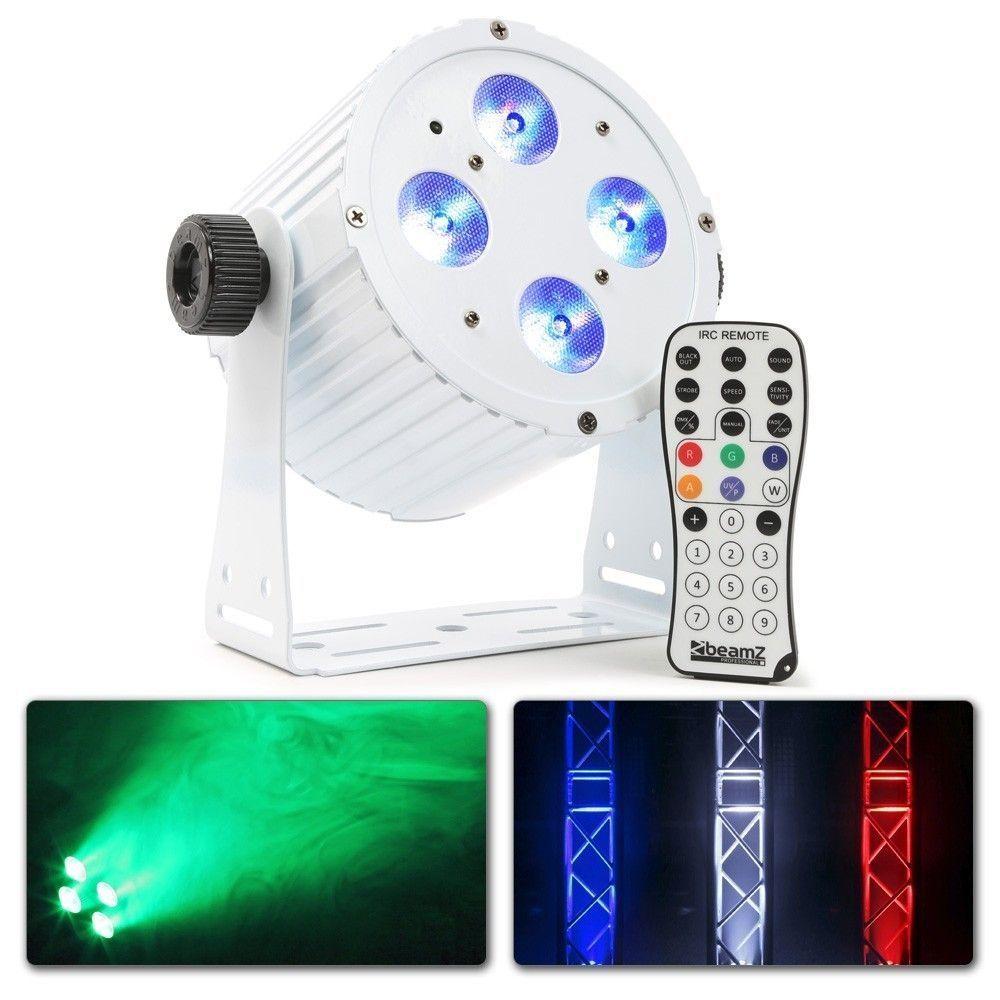 Afbeelding van 2e keus - BeamZ BAC404 Witte aluminium LED spot met 4x 18W LED\'s...