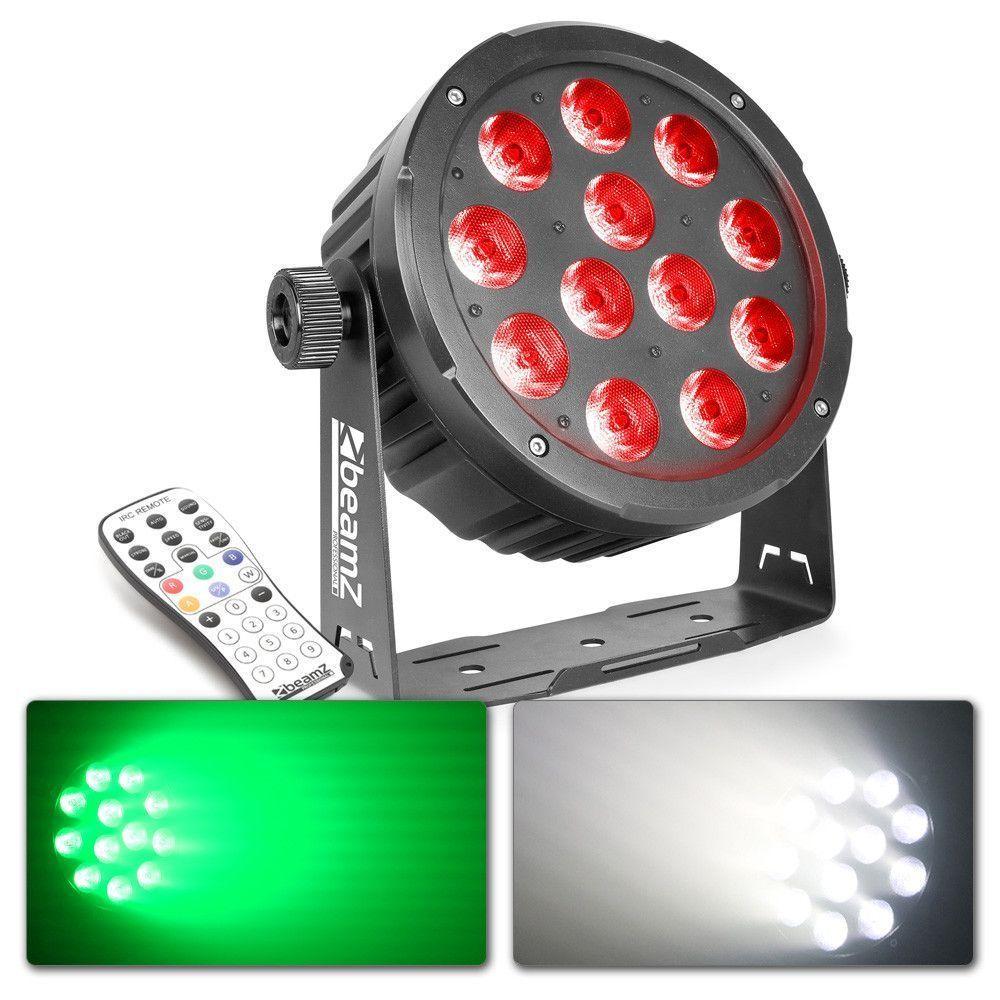 Afbeelding van BeamZ BAC504 Aluminium LED PAR 12x 12W incl afstandsbediening...