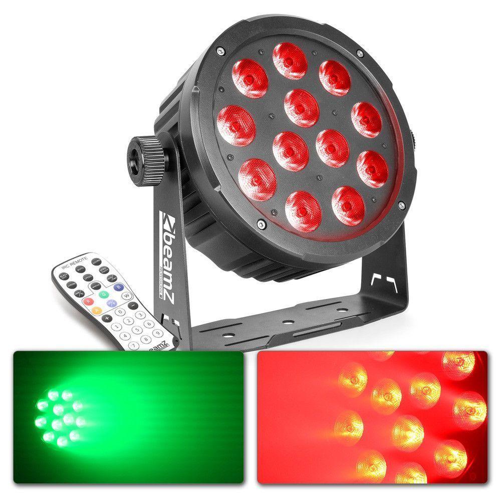 Afbeelding van 2e keus - BeamZ BAC506B Aluminium LED PAR 12x 18W incl afstandsbedieni...