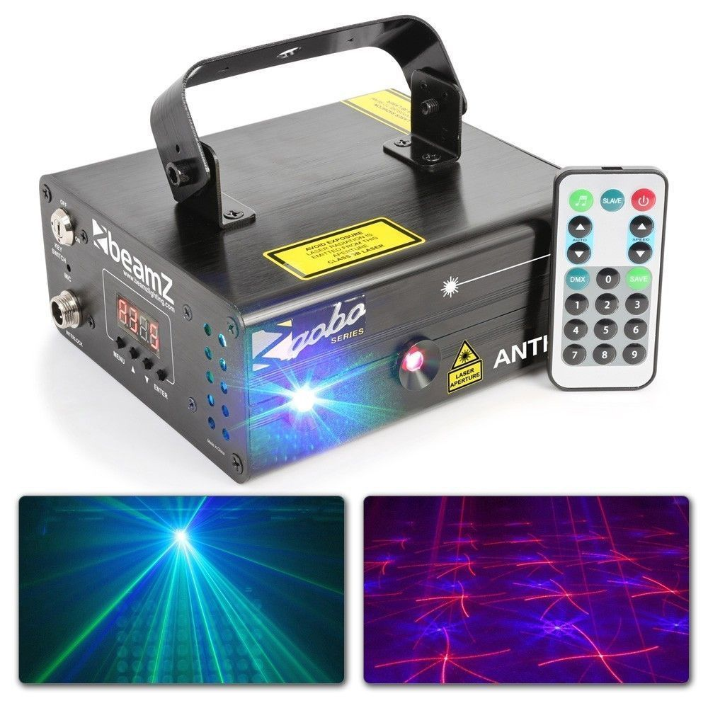 BeamZ Anthe II Dubbele Laser 600mW RGB Gobo met remote en DMX
