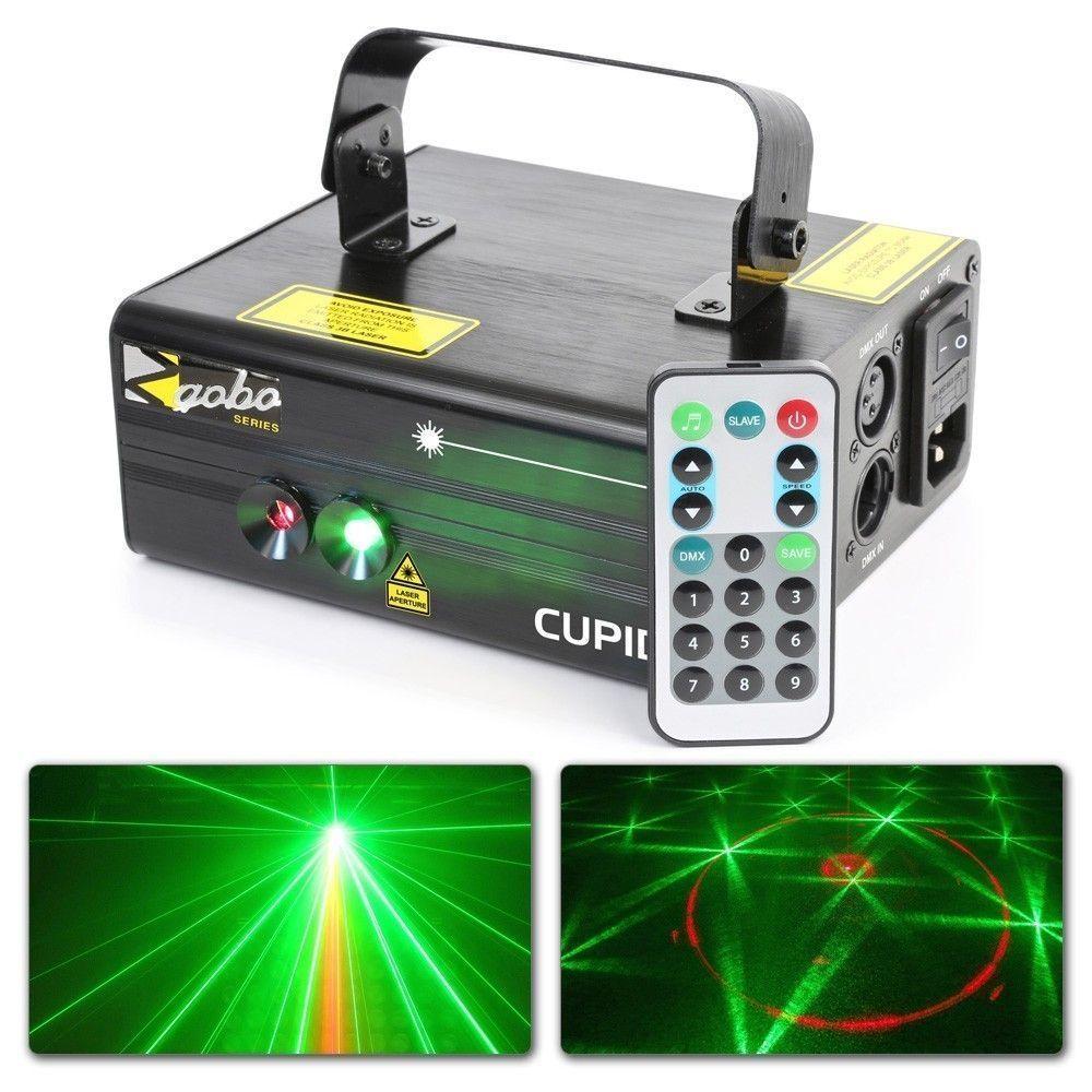 Afbeelding van 2e keus - BeamZ Cupid Dubbele Laser Disco 210mW rood groen Gobo met re...