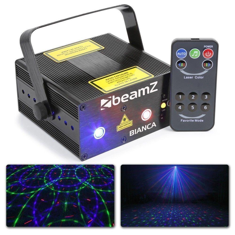 BeamZ Bianca dubbele Laser 330mW RGB Gobo met remote