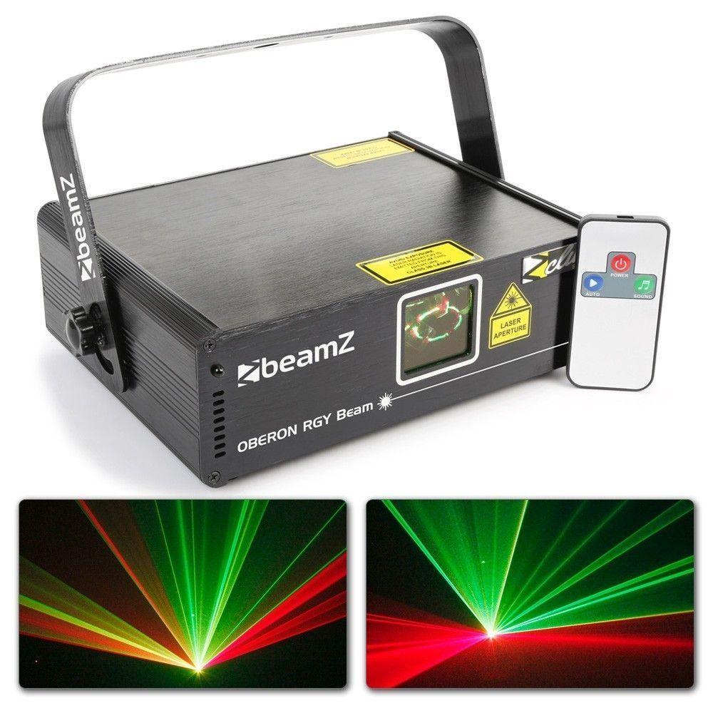 BeamZ Oberon II Laser 230mW RGY met remote en DMX