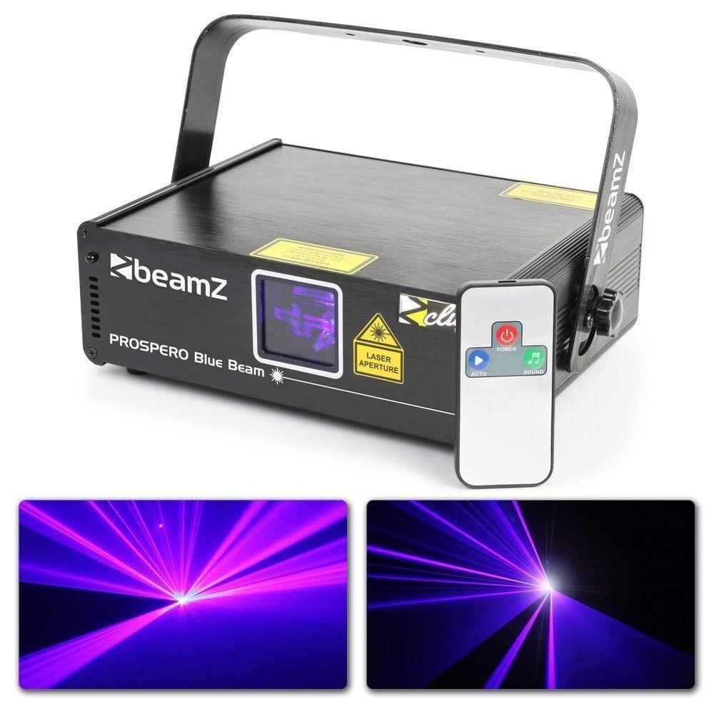 BeamZ Prospero II Laser 150mW Blauw met remote en DMX