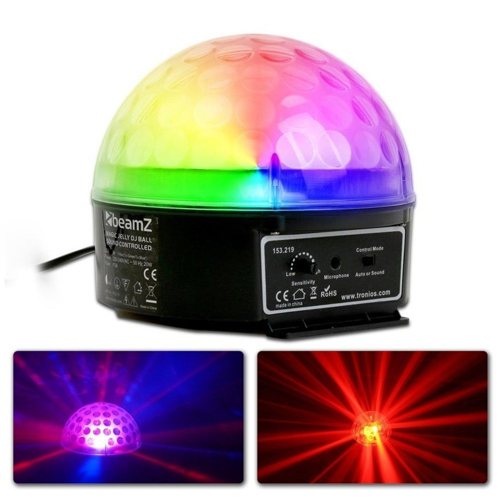 BeamZ Magic Jelly Wash BeamZ LED Muziekgestuurde DJ Ball