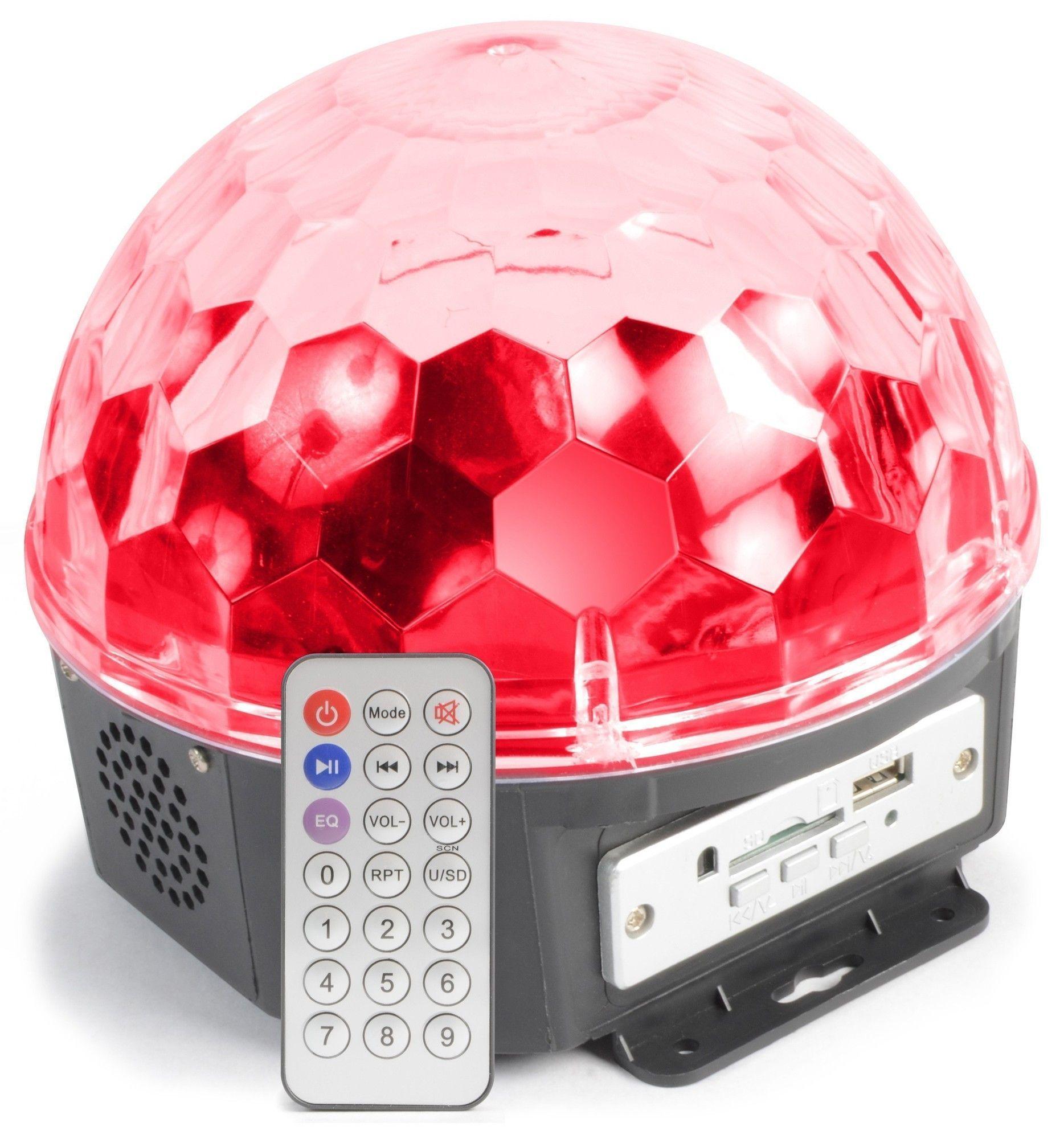 Dagaanbieding - MAX Magic Jelly DJ Ball 6x 1W LED muziekgestuurd met MP3 speler dagelijkse koopjes