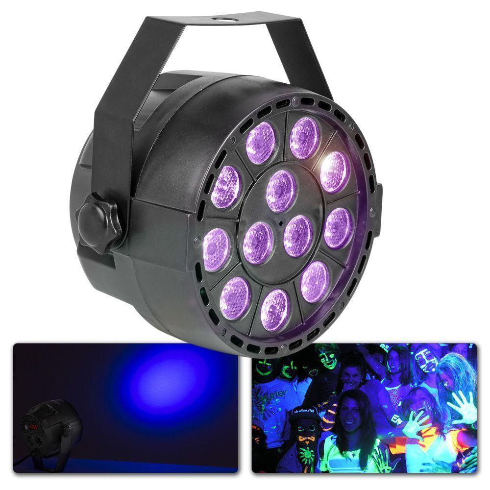 Afbeelding van 2e keus - MAX Blacklight PartyPar met 12x 1W UV LED\'s en DMX...