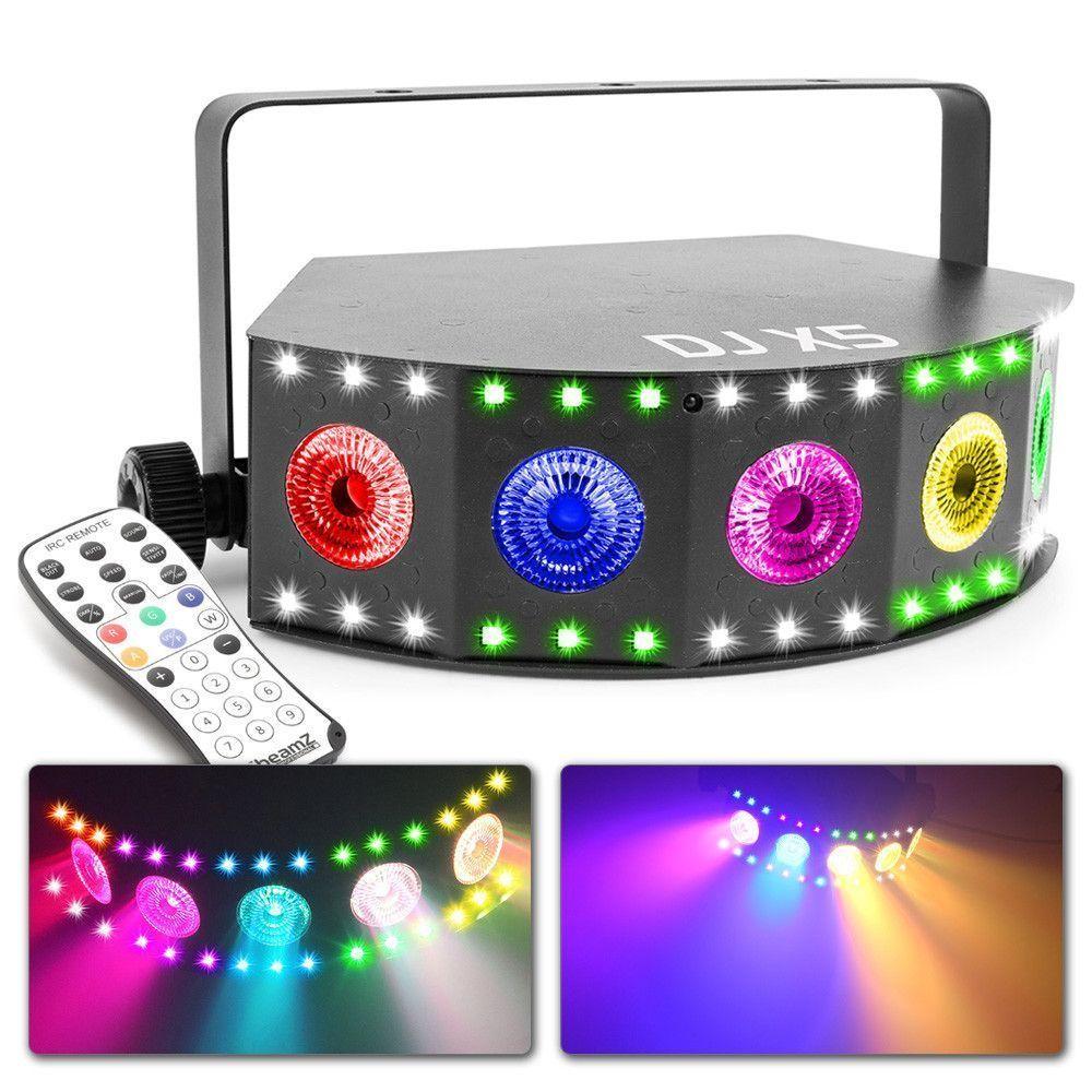 Afbeelding van 2e keus - BeamZ DJ X5 LED lichteffect met wash en stroboscoop effect...