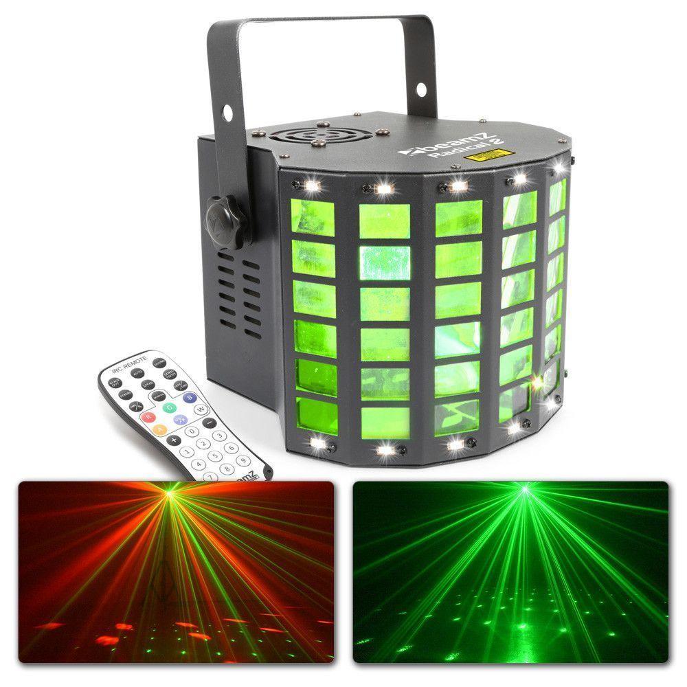 Afbeelding van 2e keus - BeamZ Radical II Derby met laser en strobo 3-in-1 effect...
