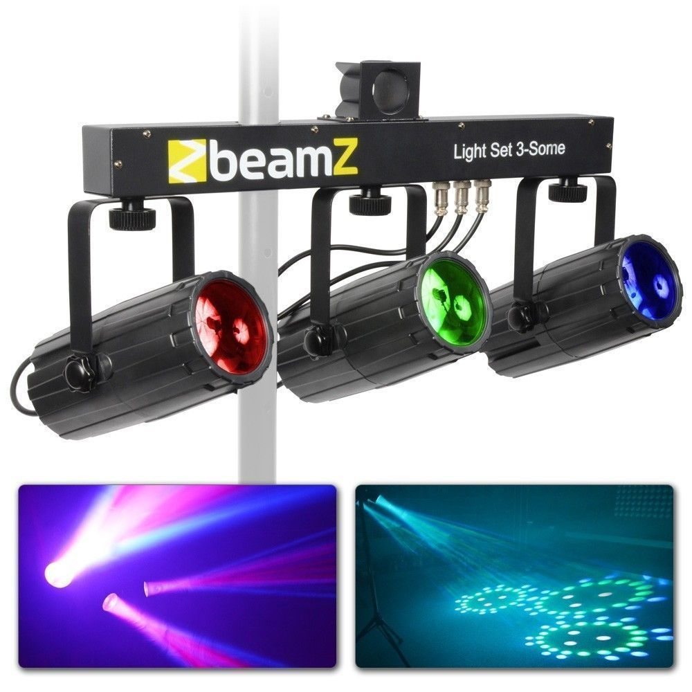 BeamZ 3-Some Lichtset 3x 57 RGBW LED's